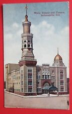 Murat Temple and Theatre Indianapolis In Unposted Db Postcard
