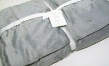 Pottery Barn Light Silver Gray Cozy Full Queen Blanket New