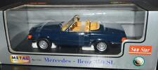SunStar 1977 Mercedes 350SL Open Convertible Car 1/18 #1131 Blue RARE!