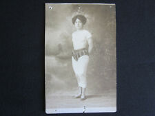 1880's LAURA Early Female Professional Wrestler New York City Studio Photo