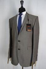 Men's Ben Sherman Grey Slim Fit Suit 42l W36 L30 Vb176
