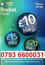 TESCO Mobile sim card Gold number