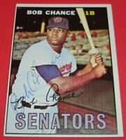 1967 Topps #349 BOB CHANCE Hand Signed Auto Autograph~Guaranteed Authentic