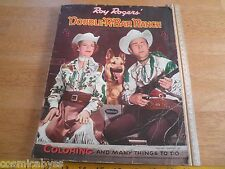 Roy Rogers Double-R_Bar Ranch 1955 Whitman coloring book Dale Evans