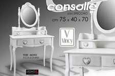 CONSOLLE BIANCA CUORE SPECCHIO TAVOLO Make Up INGRESSO LEGNO SHABBY CHIC 662522