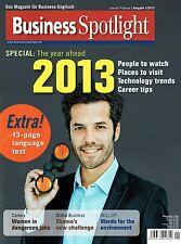 Business Spotlight 1 2013 English Career tips Global business Obama Environment