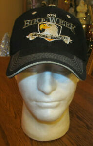 2014 Bike Week Daytona Beach Florida FL Baseball Hat Black Eagle Motorcycle