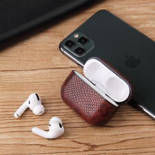 Bluetooth Wireless Earphone Leather Case Sexy Snake Skin Case Charging Box Cases