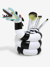 Loungefly Beetlejuice Set Of 5 Makeup Brushes And Sandworm Brush Holder