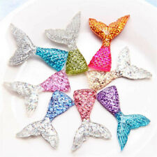 10Pcs Mixed Slime Charms Mermaid Tail Phone Keychain Decor Accessories DIY Kit