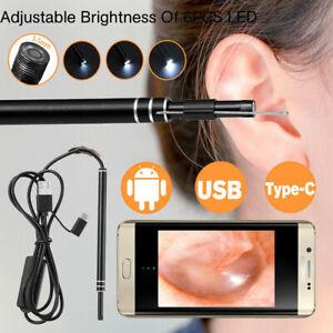 Led Endoscope Otoscope Ear Camera Scope Ear Wax Removal Kit Earwax Cleaning Tool