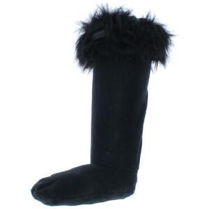 Hunter Womens Black Faux Fur Liner Comfort Boot Socks M BHFO 0321