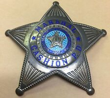 Obsolete Cashion Oklahoma Police  Marshal Badge - VERY RARE