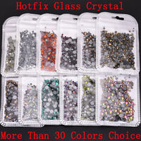 Wholesale Mix Size SS3-SS30 Glass Crystal Flatback Hotfix Rhinestones DIY Crafts