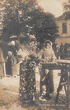 B73277 vanzatoare de covrigi  pretzel seller costumes types folklore romania