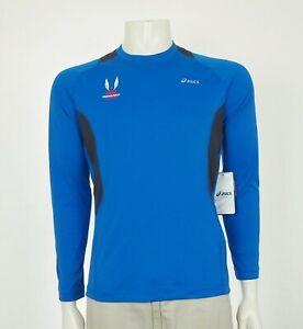 New Asics Team USA Track & Field USATF Training Shirt Mens Small