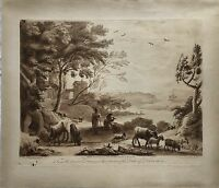 Richard Earlom (1743-1822) Duke of Devinshire - Landscape - 1774 Mezzotint
