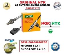 NGK NTK O2 OXYGEN LAMBDA SENSOR OEM: 06A906262BS for AUDI SEAT SKODA VW 1.4 1.6