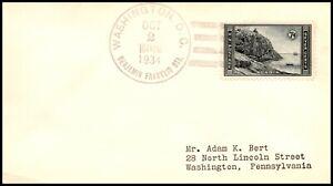 Scott 746 7 Cents Acadia Adam Bert #5 FDC Addressed To Bert