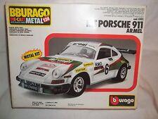 Vintage Burago 5102 Porsche 911 Armel Painted Metal Kit 1/24 Mint & Boxed