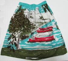 Anthropologie We Love Vera Size 4 Skirt Seabound Nautical Boats Venice Lined