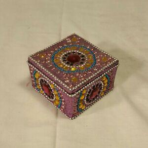Decorative jeweled Ring Box