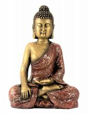 Meditierende Eule Buddha Figur Feng Shui Buddhismus Deko Statue