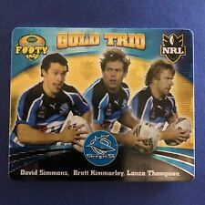 2007 Gold Series NRL Footy Tazo Gold Trio #61 Cronulla Sharks