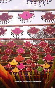 Gujarati Boda Garba Noche Decoración Pankhi Giratorio Fans Vintage Campanas Arte