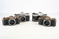 Lot of 4 Canon AE1 AE 1 35mm SLR Film Camera Bodies AS IS for PARTS V12