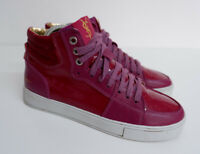 ysl yves saint laurent Pink Suede & Patent Leather Boots Sneakers Size 38 Uk 5