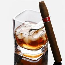 Double Old Fashioned Whisky Glass With Built-In Cigar Rest