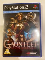 Gauntlet Seven Sorrows Ps2 Playstation 2 Game with Instruction Manual PAL VGC