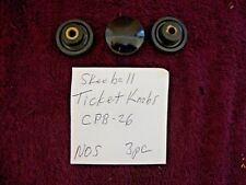 ARCADE SKEE BALL TICKET DISPENSER KNOBS  #CPB-26  3 PCS.