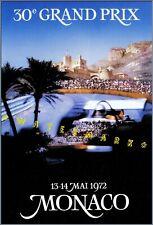 Grand Prix 1972 Monte Carlo Monaco Vintage Poster Print Retro Car Racing Art