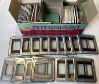 "Lot of TDC Prestomount 2 x 2"" Metal Slide Mounts Glass Squares 35 MM & Kwik Klik"