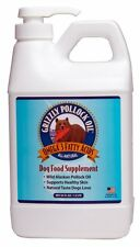 NEW! FRESH! 64 OUNCE GRIZZLY POLLOCK OIL DOG & CAT FOOD SUPPLEMENT WITH A PUMP