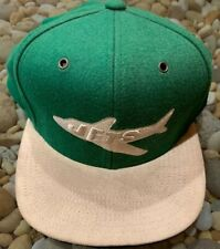 VINTAGE MITCHELL & NESS NY JETS ADJUSTABLE FIT HAT GREEN TAN SUEDE