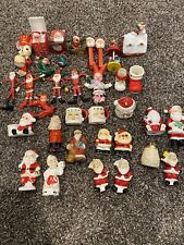 Vintage Mixed Lot Christmas Santa Figures Salt & Pepper Shakers Japan Decor