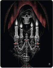Anne Stokes Candelabra Grim Reaper Gothic Polar Fleece Throw Rug Blanket