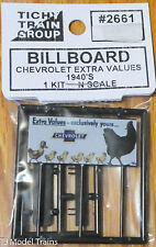 Tichy Train Group #2661 (N Scale) Billboard Chevrolet Extra Values 1940's era