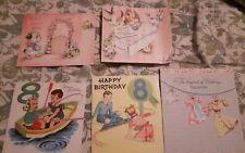 vintage birthday card lot of 5