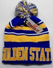 Golden State Warriors Colors on City Name POM Beanie Knit Cap hat! Warm, Plush