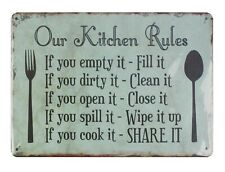 household decorative items Our Kitchen Rules tin metal sign