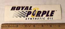 "Royal Purple Synthetic Oil Decal Sticker 7"" x 2"" NHRA Drag Racing Hot Rod"