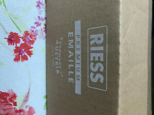 stielkasserolle 14cm 3/4L Riess Blau Neu Premium Emaile
