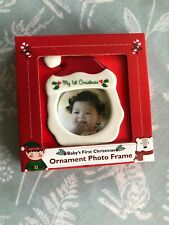 Baby's first Christmas Ornament Photo Frame Tree Decoration Brand New