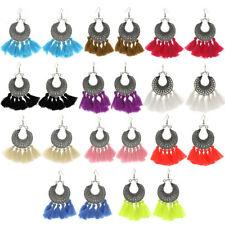 Multi-Color Bohemian Tassel Earrings Women  Fringe Earrings Statement Jewelry