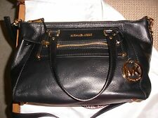 NWT Michael Kors Black Leather Gilmore Med EW Satchel Retail $358