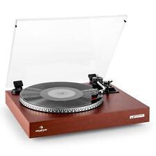 Vinyl Turntable Record Player Wood Belt Drive Auto start LED Vintage Audio Hi fi